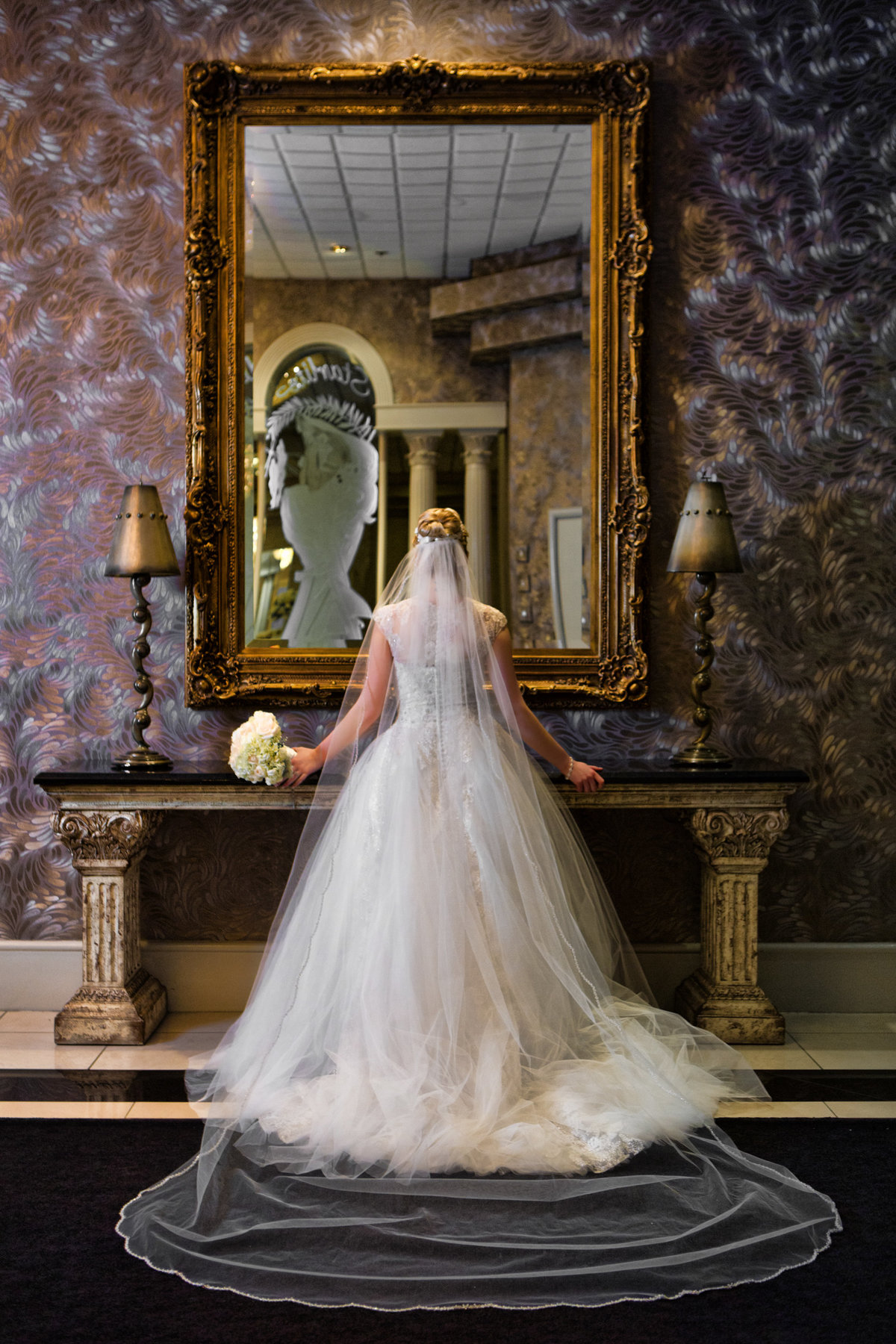 Elegant Wedding Photo of Bride