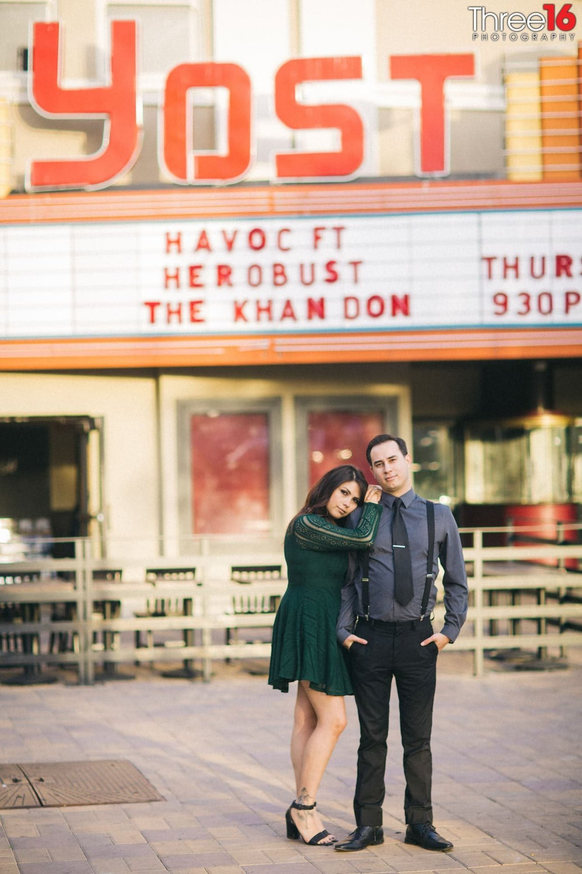 Yost Theater Engagement Photos Santa Ana Orange County Wedding Professional Photographer Urban Unique