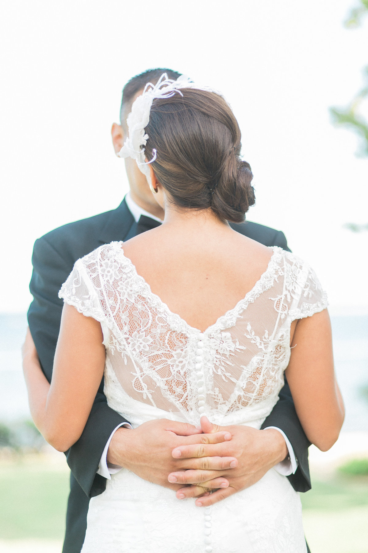 Lace Back Wedding Dress Details