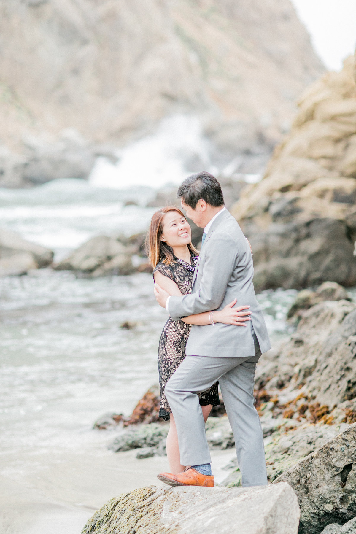 Central California Coastline Engagement Evonne Darren Photo
