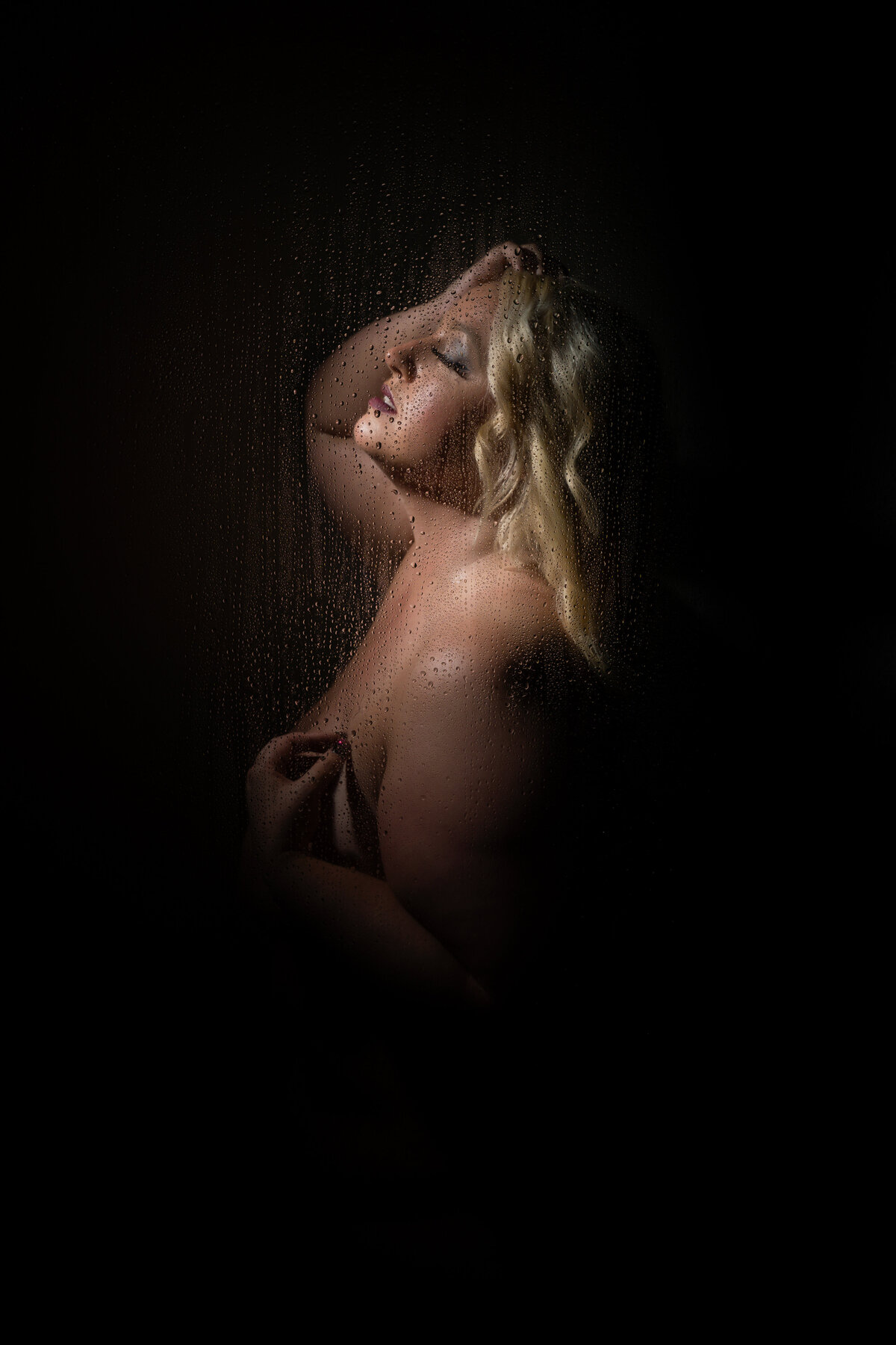 Plus Size Shower Themed Boudoir Photo