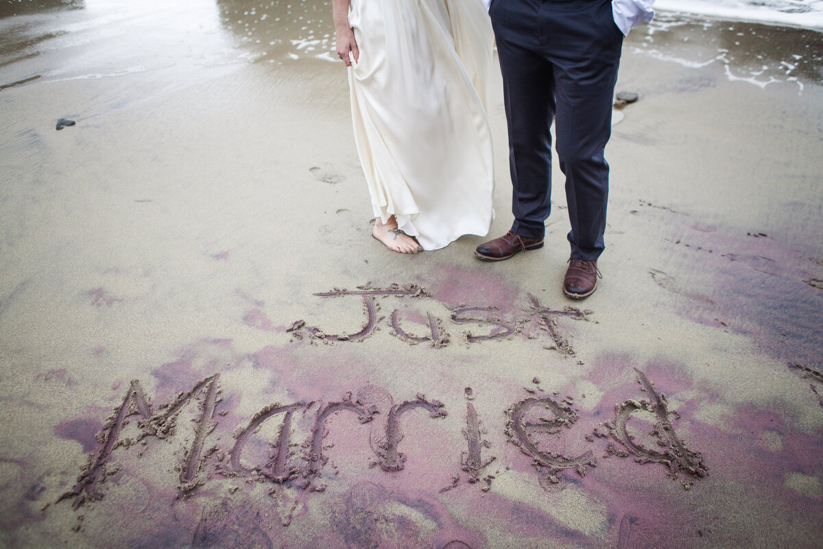 just married elopement