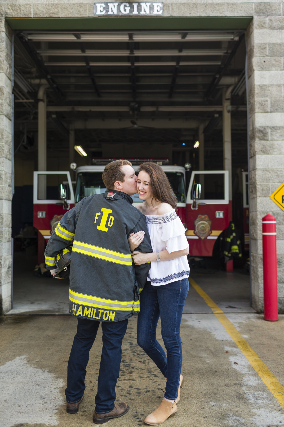 Fireman Engagement Session | Erika Brown Photography-5
