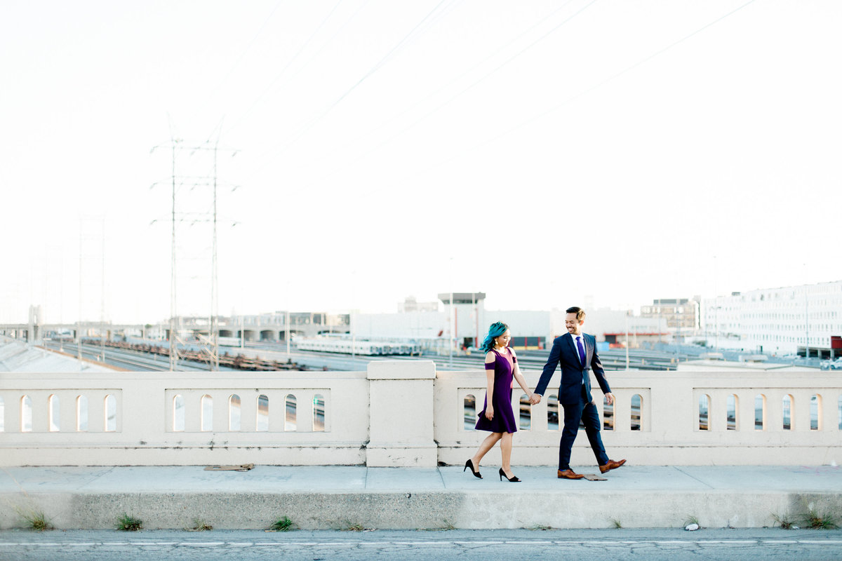 Down Town Los Angeles Engagement Photos