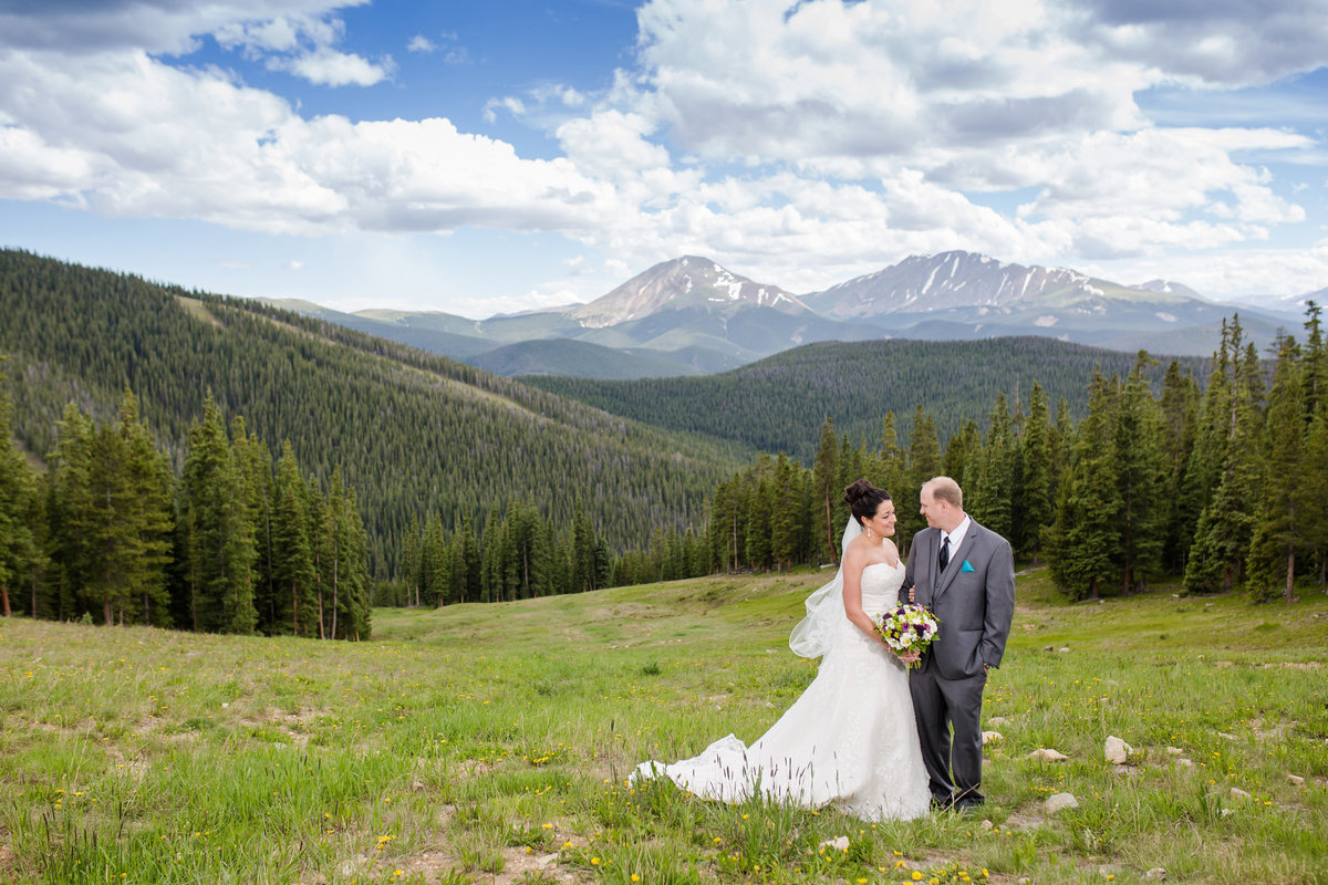 the view from Timberridge Keystone wedding