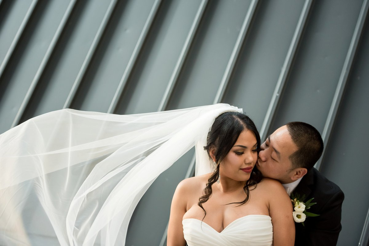veil photo wedding portrait