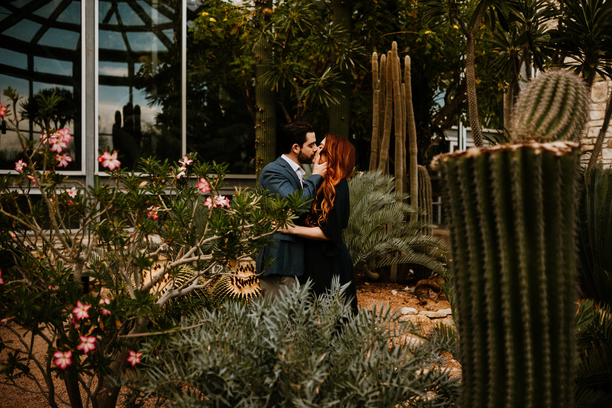 greenhouse at driftwood engagement