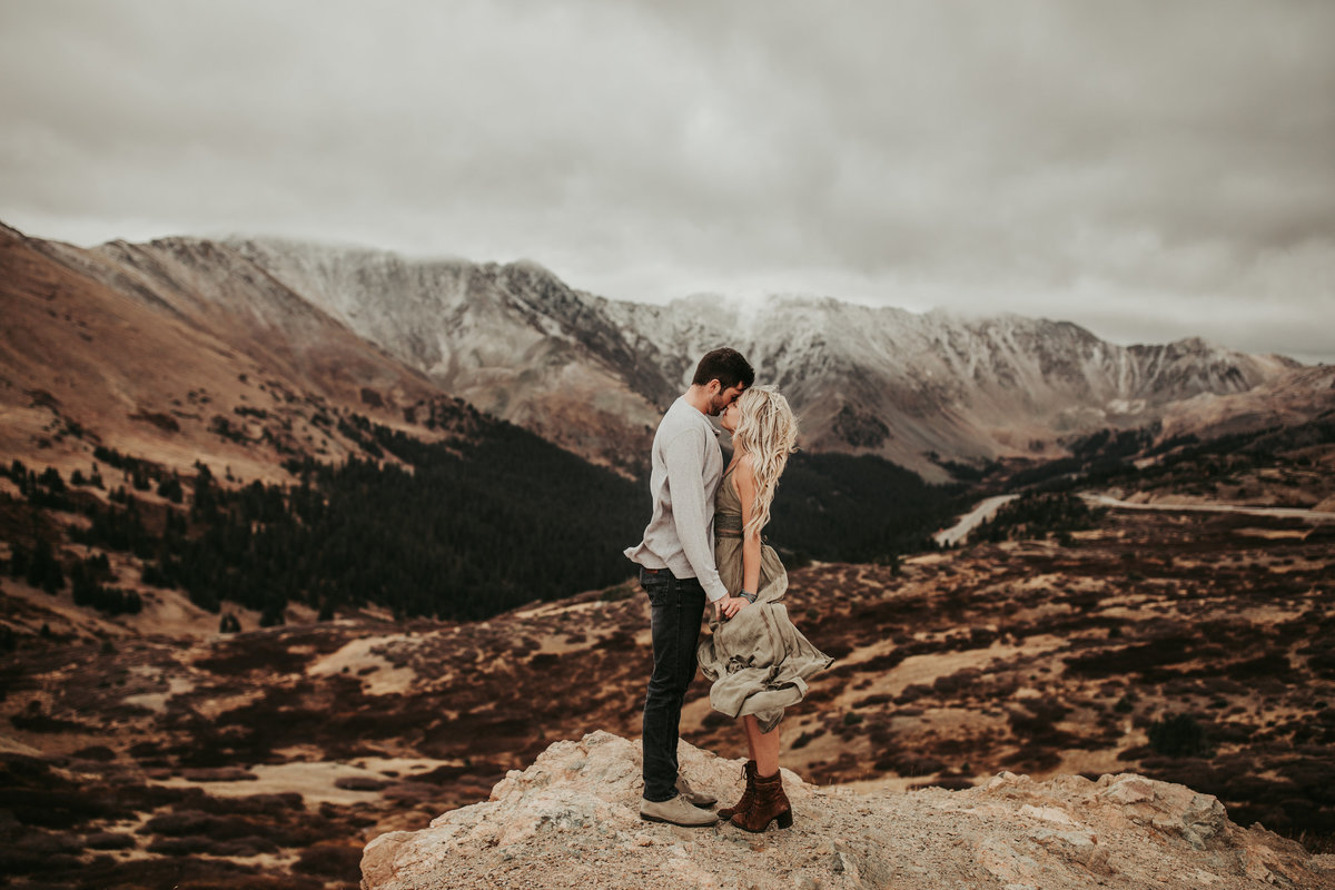 Colorado Engagement Session at Loveland Pass