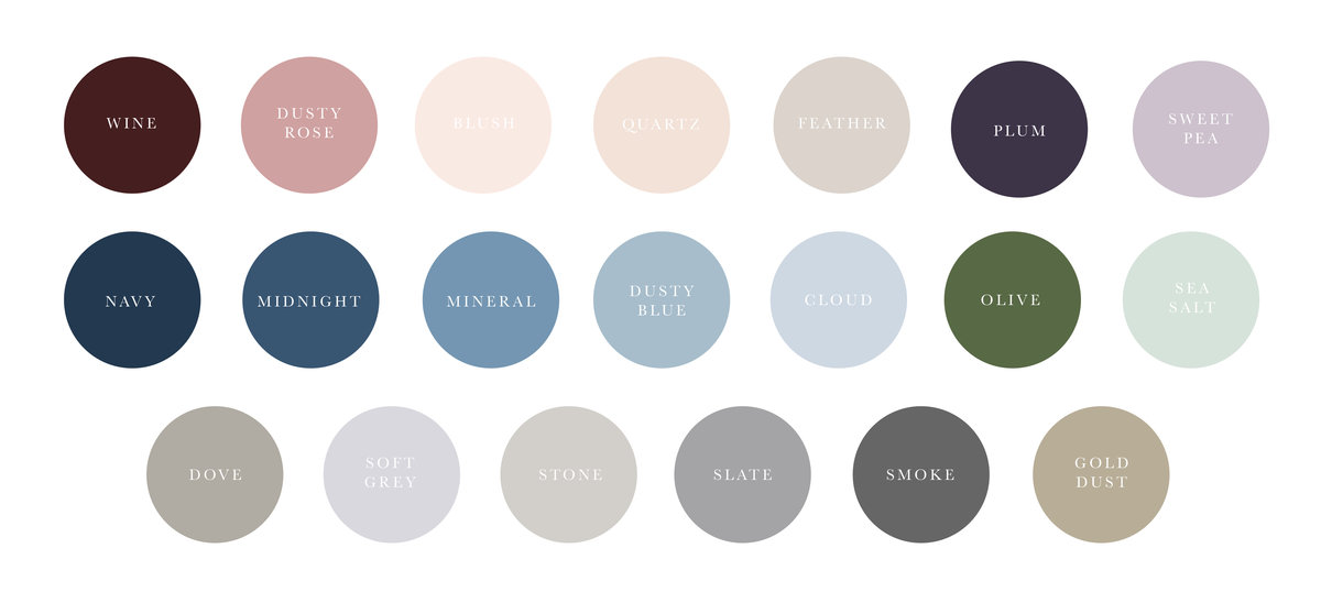 Wedding Invitation Color Palette Options