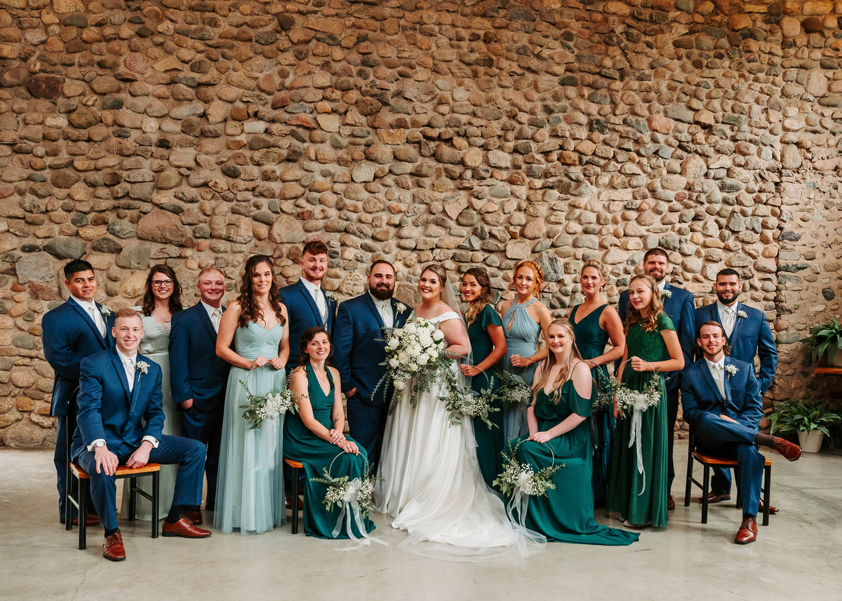 large bridal party kalamazoo wedding