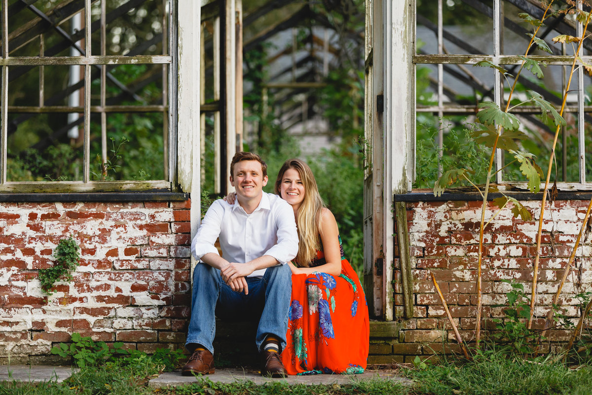 Philadelphia Engagement Session Greenhouse Outdoors 37