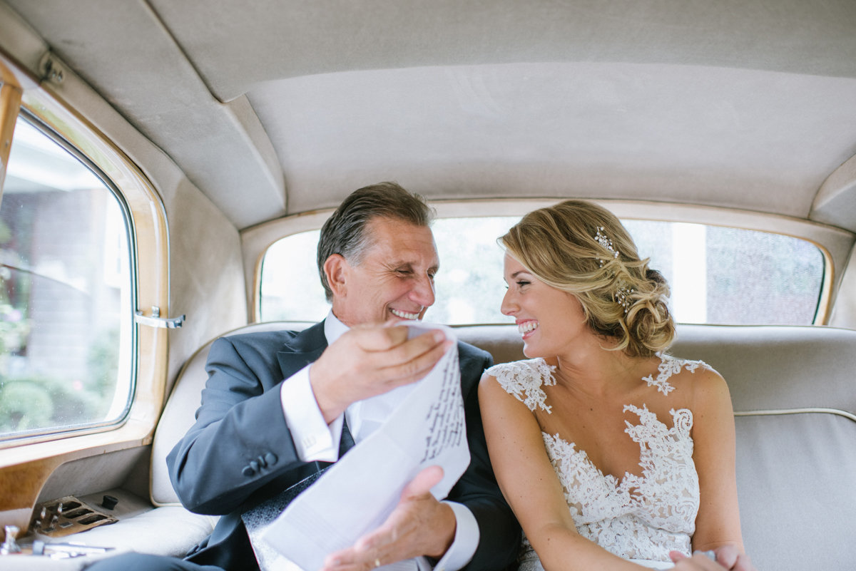 candid wedding photography oheka castle fun candid love bright father bride limo