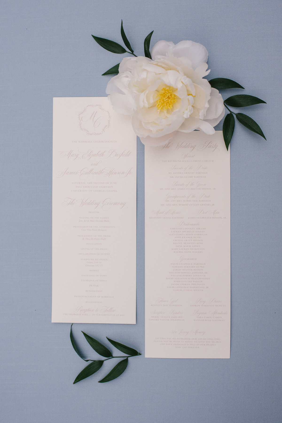 Elegant Ceremony Program
