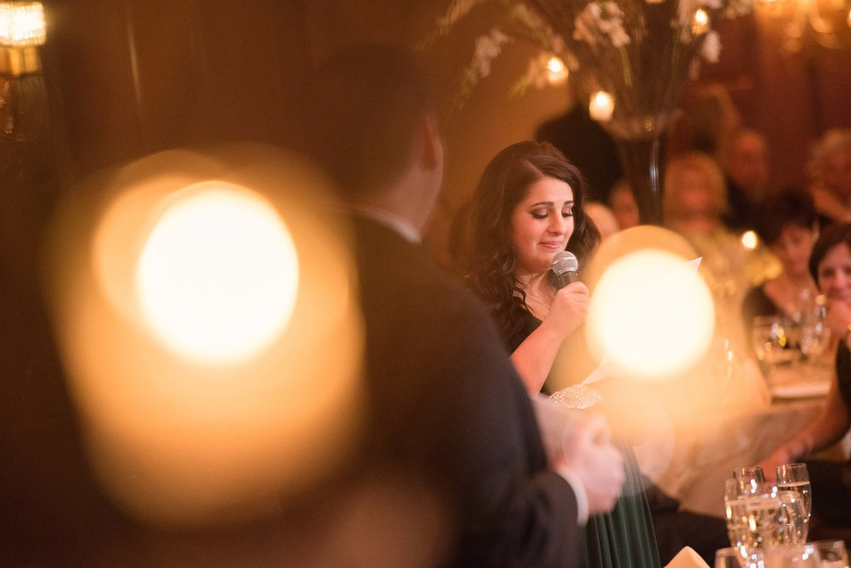 Wedding speeches at Larkfield Manor