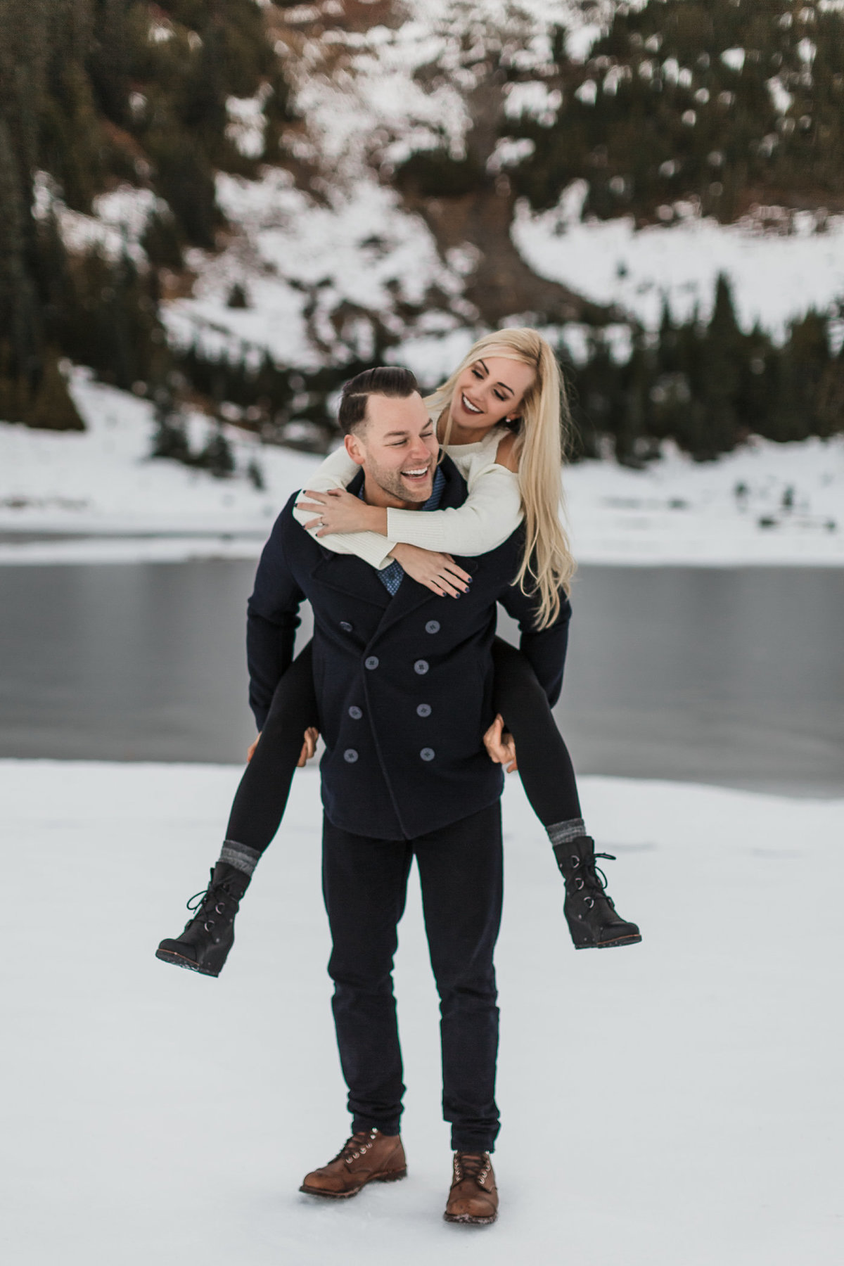 Snowy Mount Rainier Engagement Photos-28