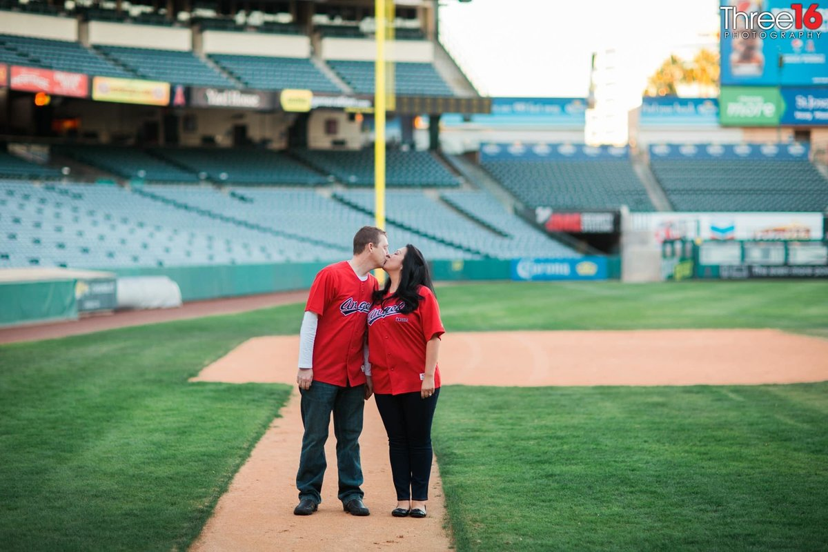 Angel Stadium Engagement Photos Orange County Wedding Photography