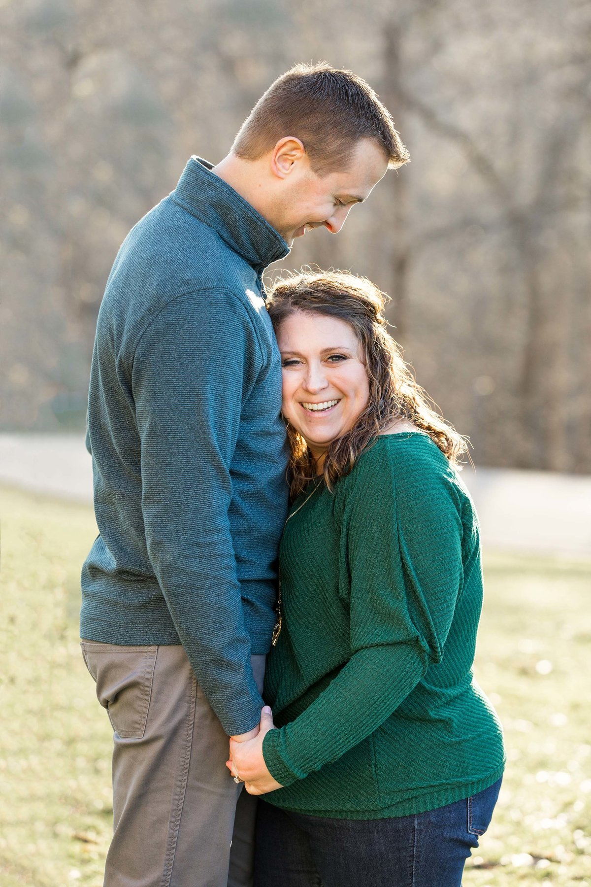 Engagement-Photo-Bride-Groom-Hugging-Oglebay