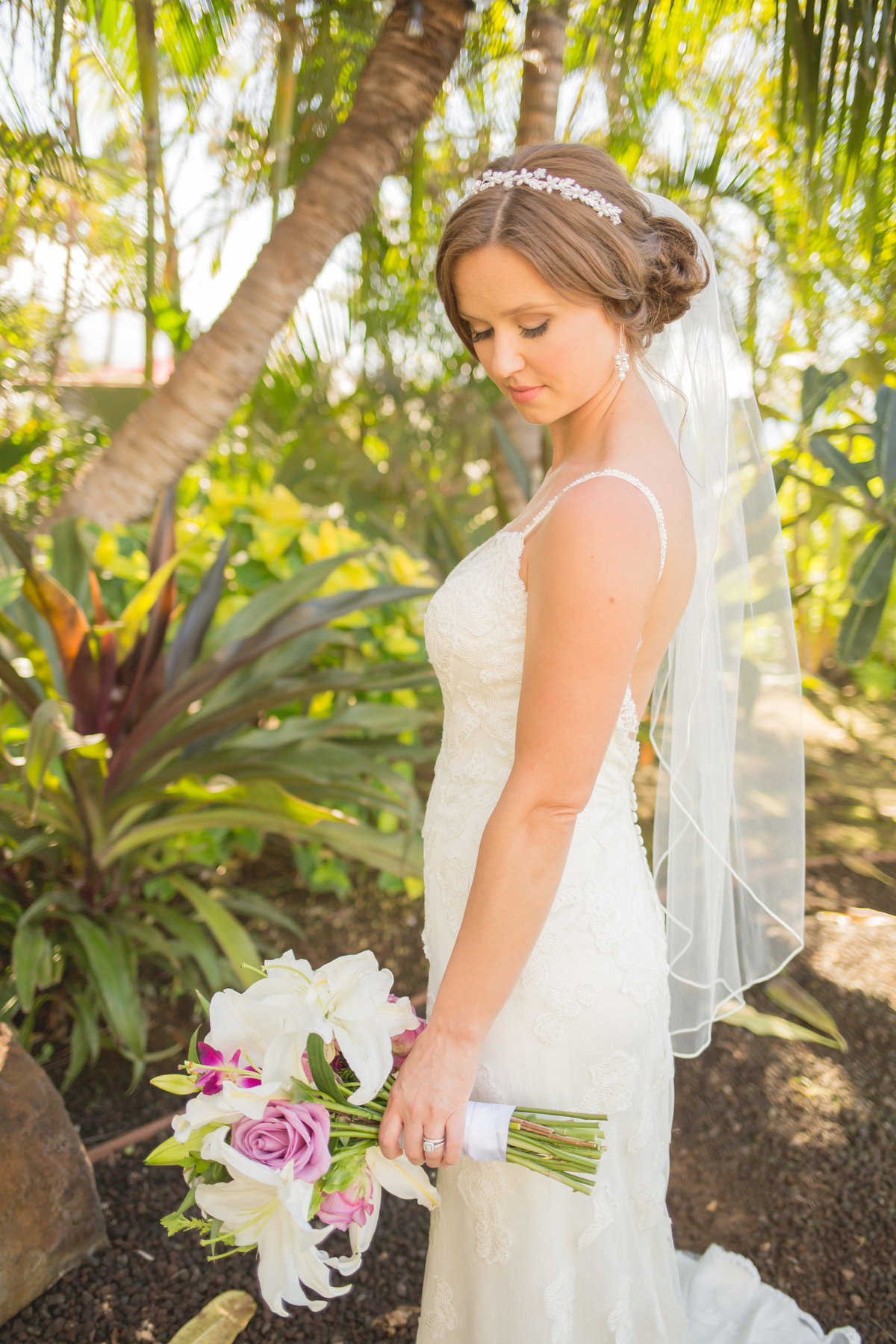 Maui wedding photography of bride