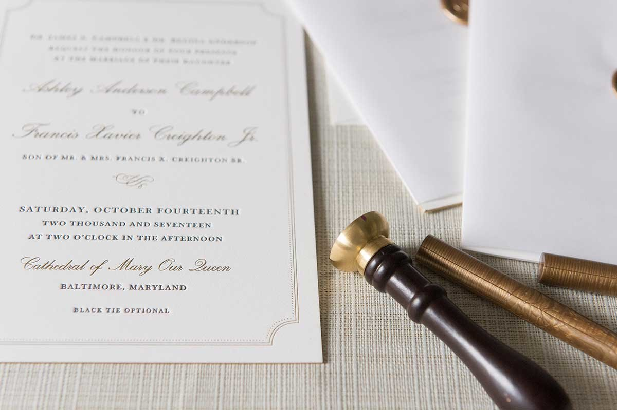 Ashley-Invitation-Letterpress-WaxSeal-ElkridgeClub