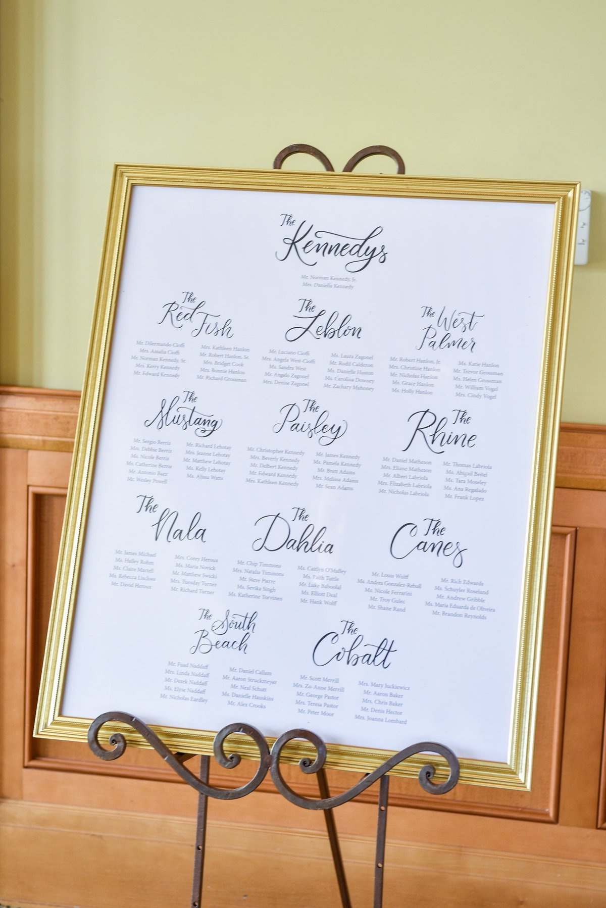 wedding sign seating chart