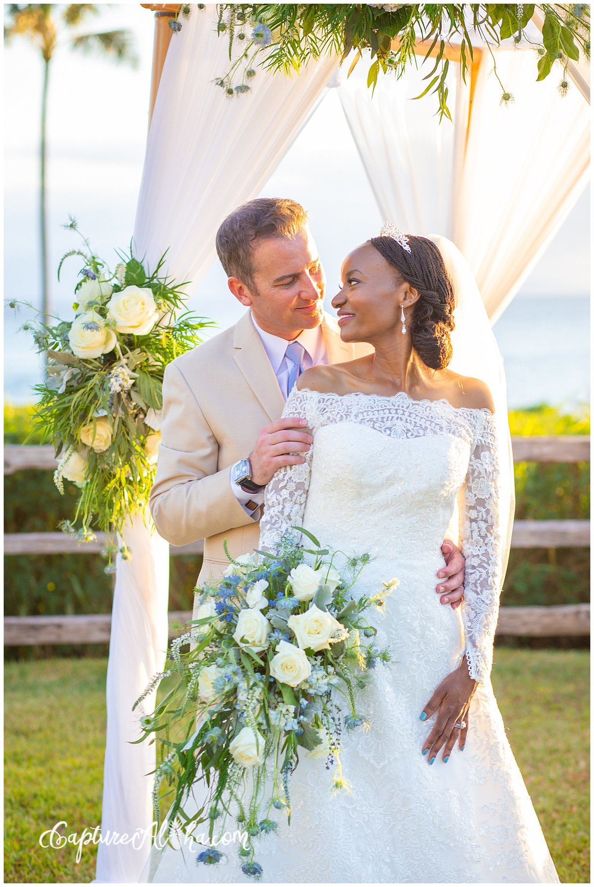 Maui Wedding Photography at The Montage Kapalua Bay at Sunset