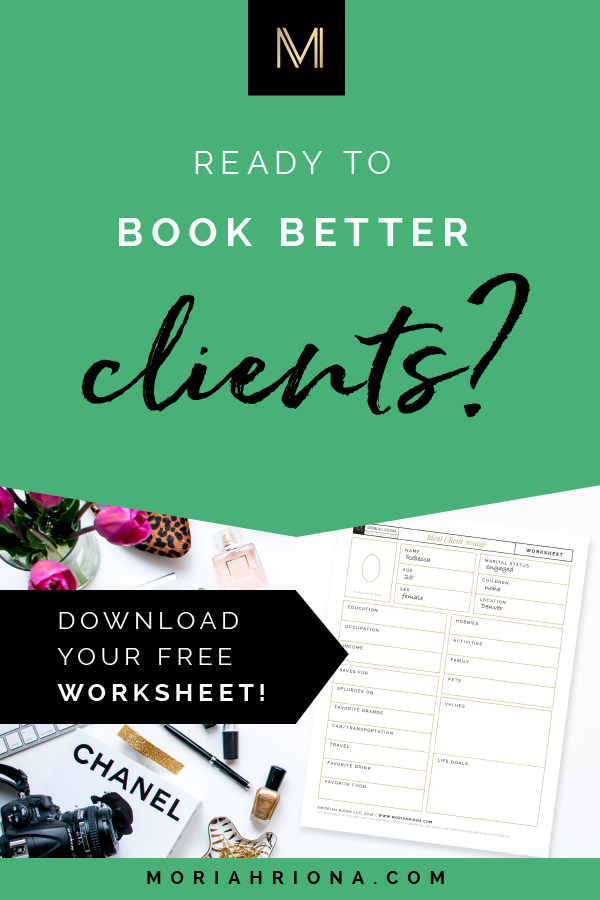 Brand Strategy for Photographers : Ideal Client Worksheet | Download your FREE worksheet to discover your ideal client avatar, and start booking dream clients! Marketing for photographers, life coaches, authors, artists, creative entrepreneurs. #smallbiz #marketing #branding #entrepreneur