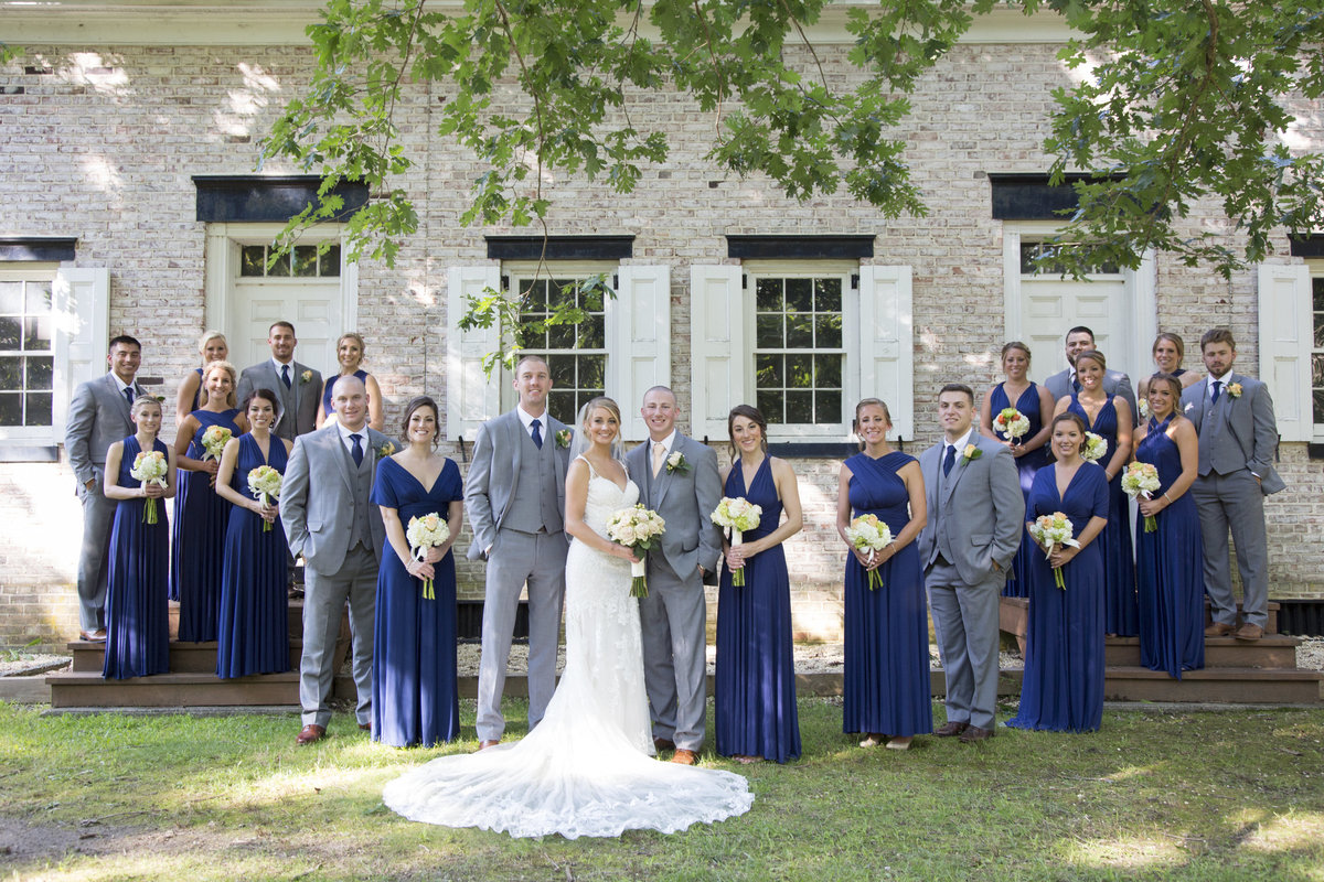 bridal party at allaire state park wedding