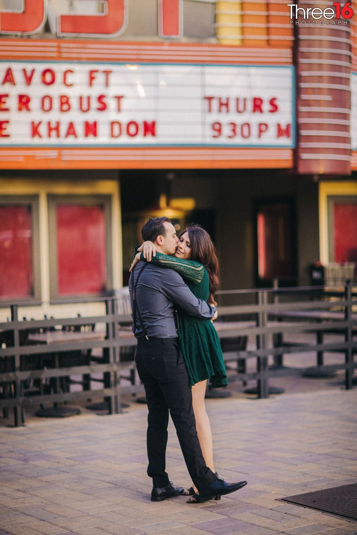 Yost Theater Engagement Photos Santa Ana Orange County Weddings Professional Photographer