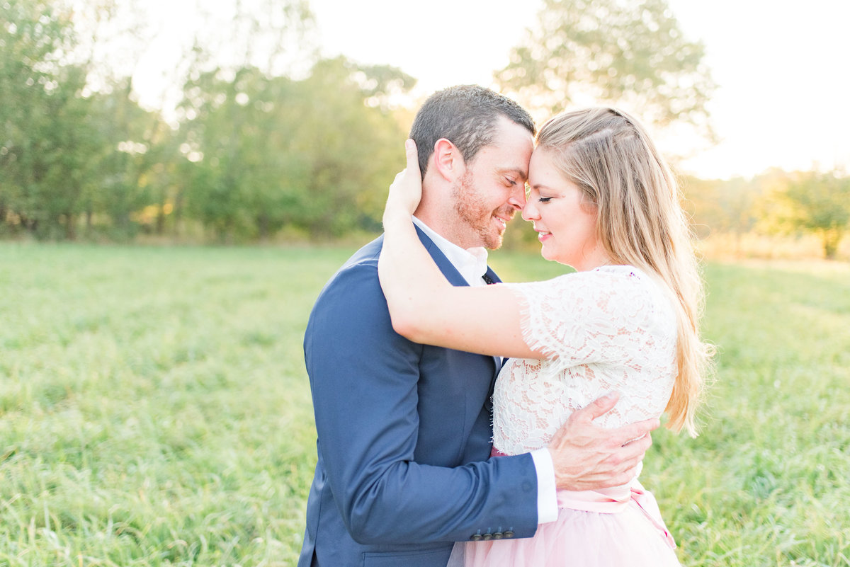 Cait Potter Creative LLC Open Field Rolling Greens Indianapolis Summer Engagement Photos-14