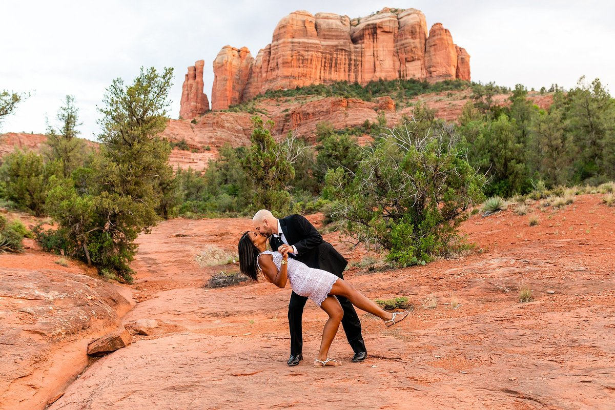 Monica + Austin - Sedona Engagement Session - Cathedral Rock - Lunabear Studios_0209