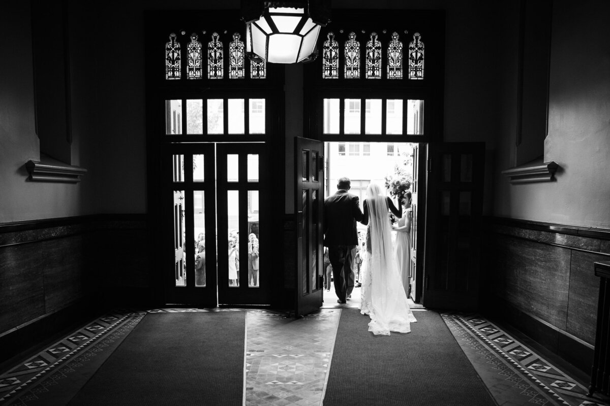 Bride and Groom leaving Church in Buffalo, New York