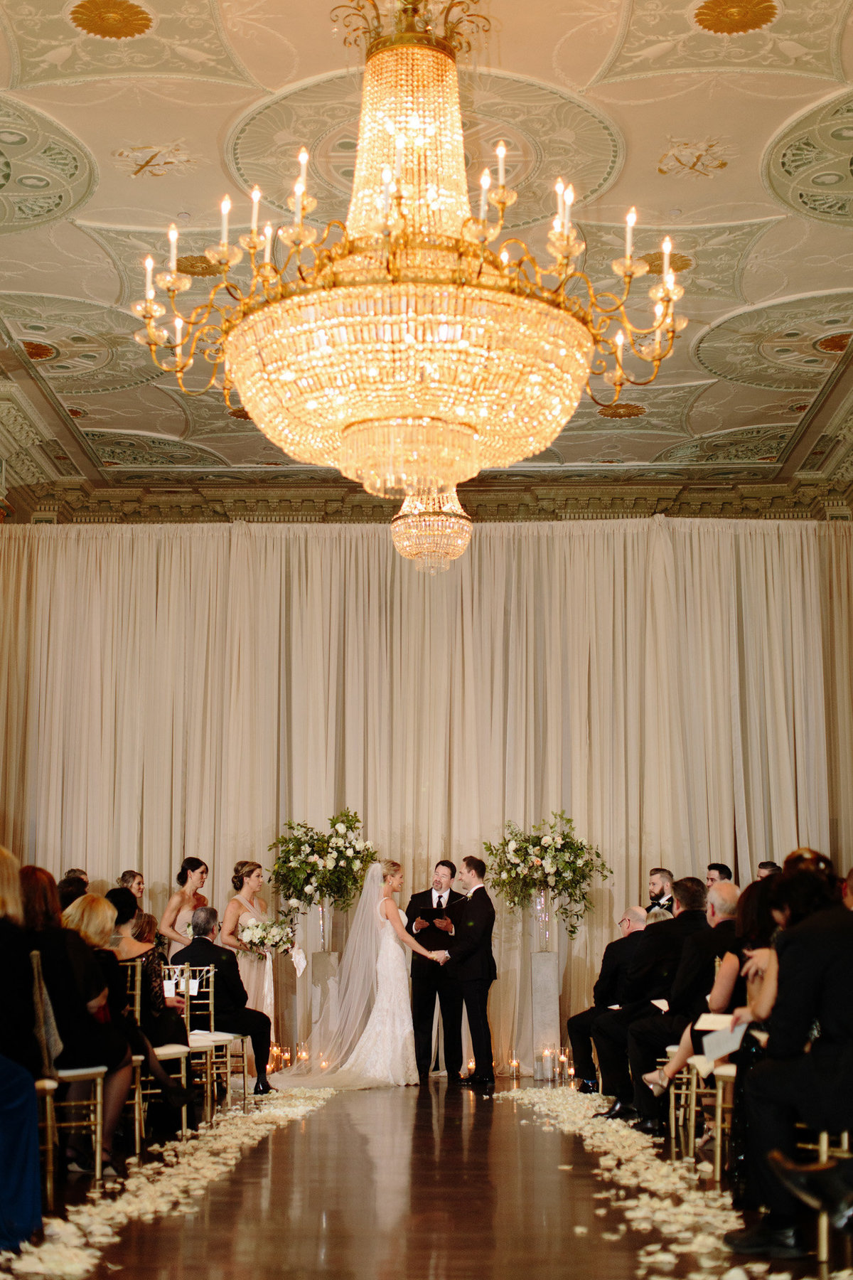 Wedding ceremony at the Biltmore Ballrooms, photo by Rebecca Cerasani.