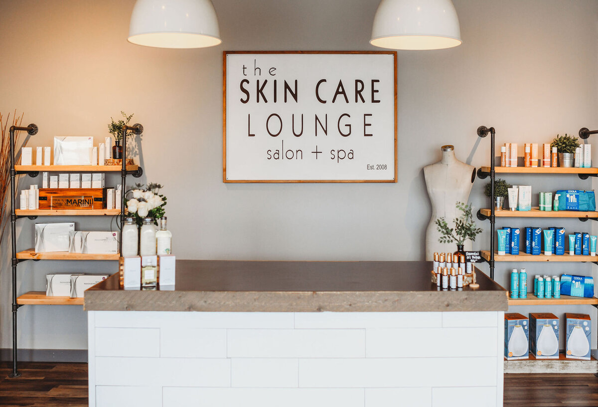 front desk of The Skin Care Lounge salon & spa