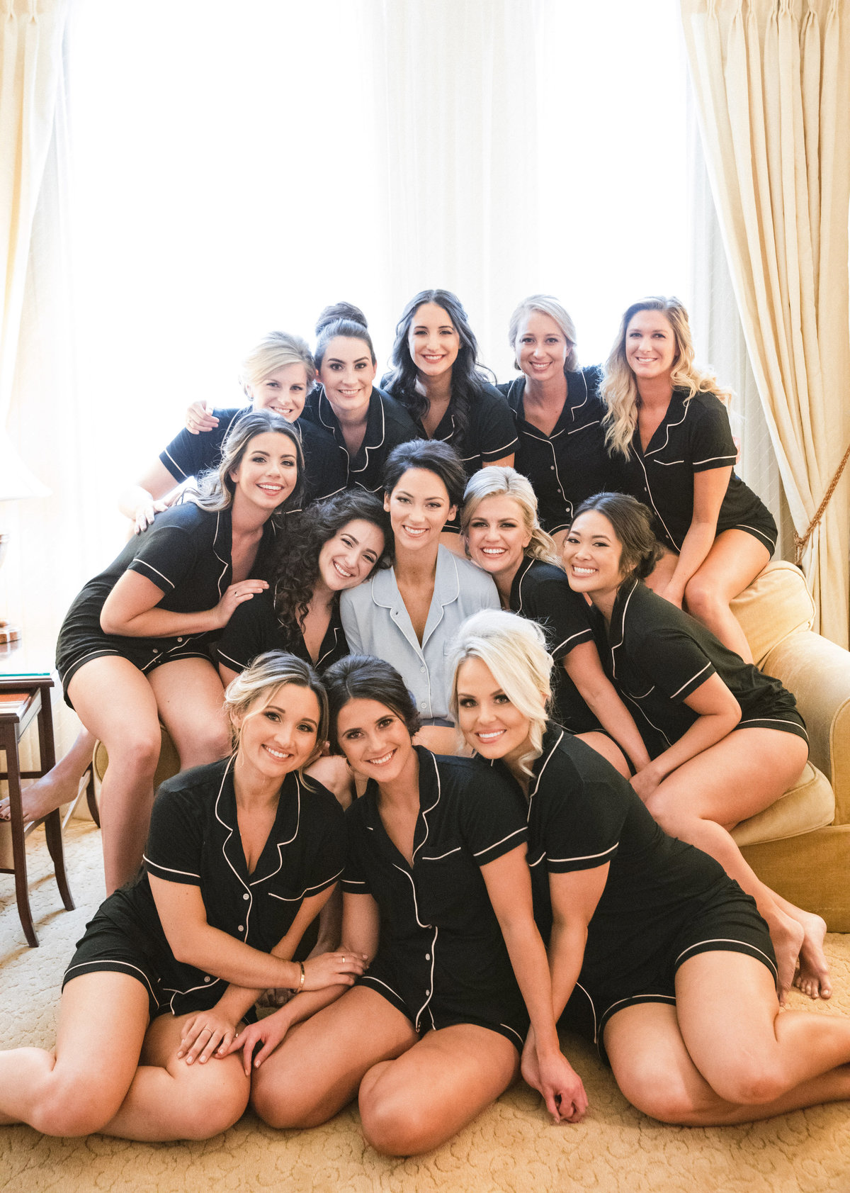 bride and bridesmaids Hotel DuPont Wilmington Delaware