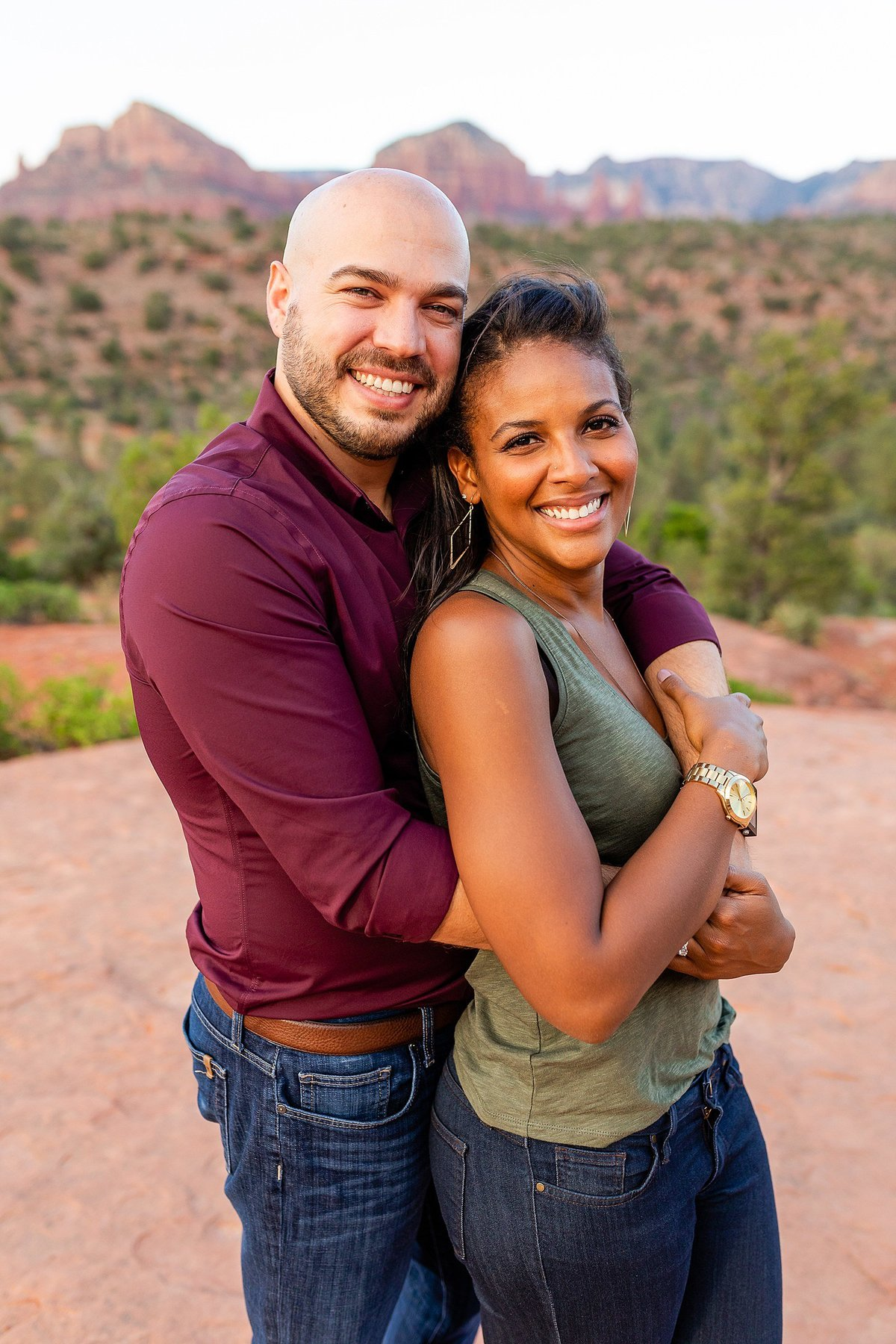 Monica + Austin - Sedona Engagement Session - Cathedral Rock - Lunabear Studios_0191