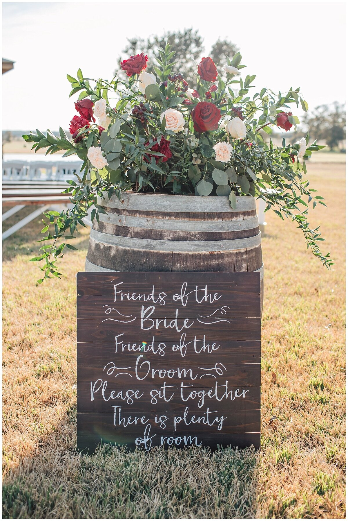 Rustic Burgundy and Blush Indoor Outdoor Wedding at Emery's Buffalo Creek - Houston Wedding Venue_0708
