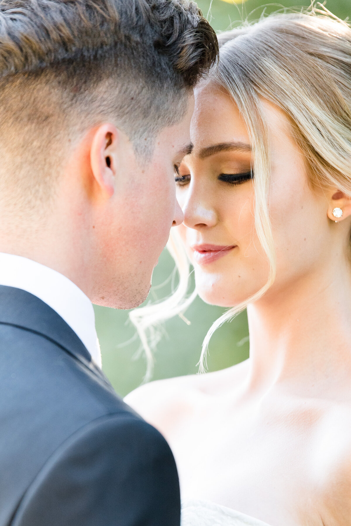 A bride and groom share a quiet moment during their Arizona Biltmore Wedding