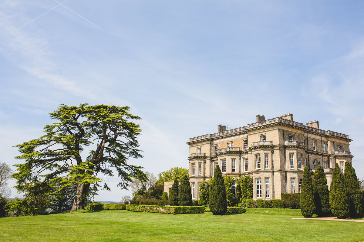 a photo of hedsor house exterior on a sunny day