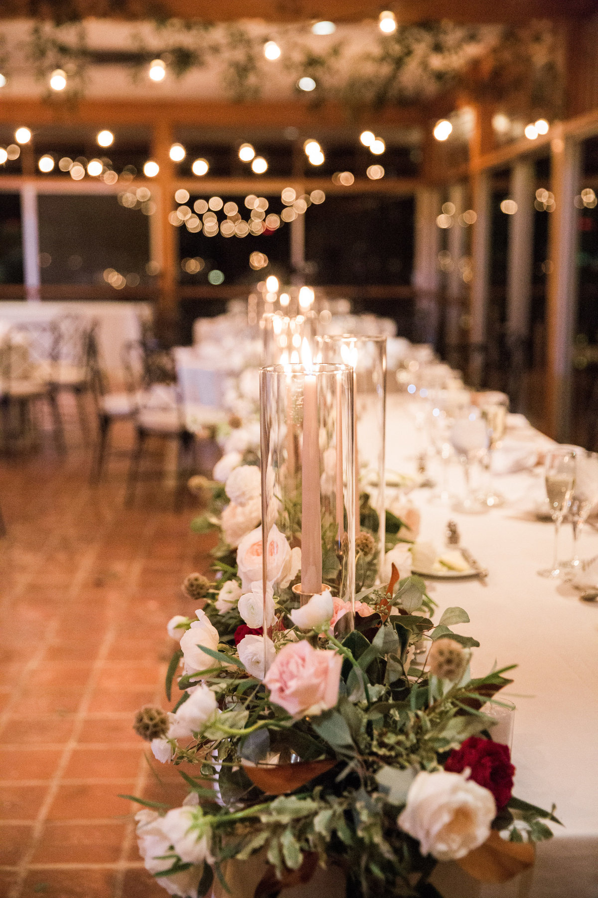 Winterthur head table wedding florist
