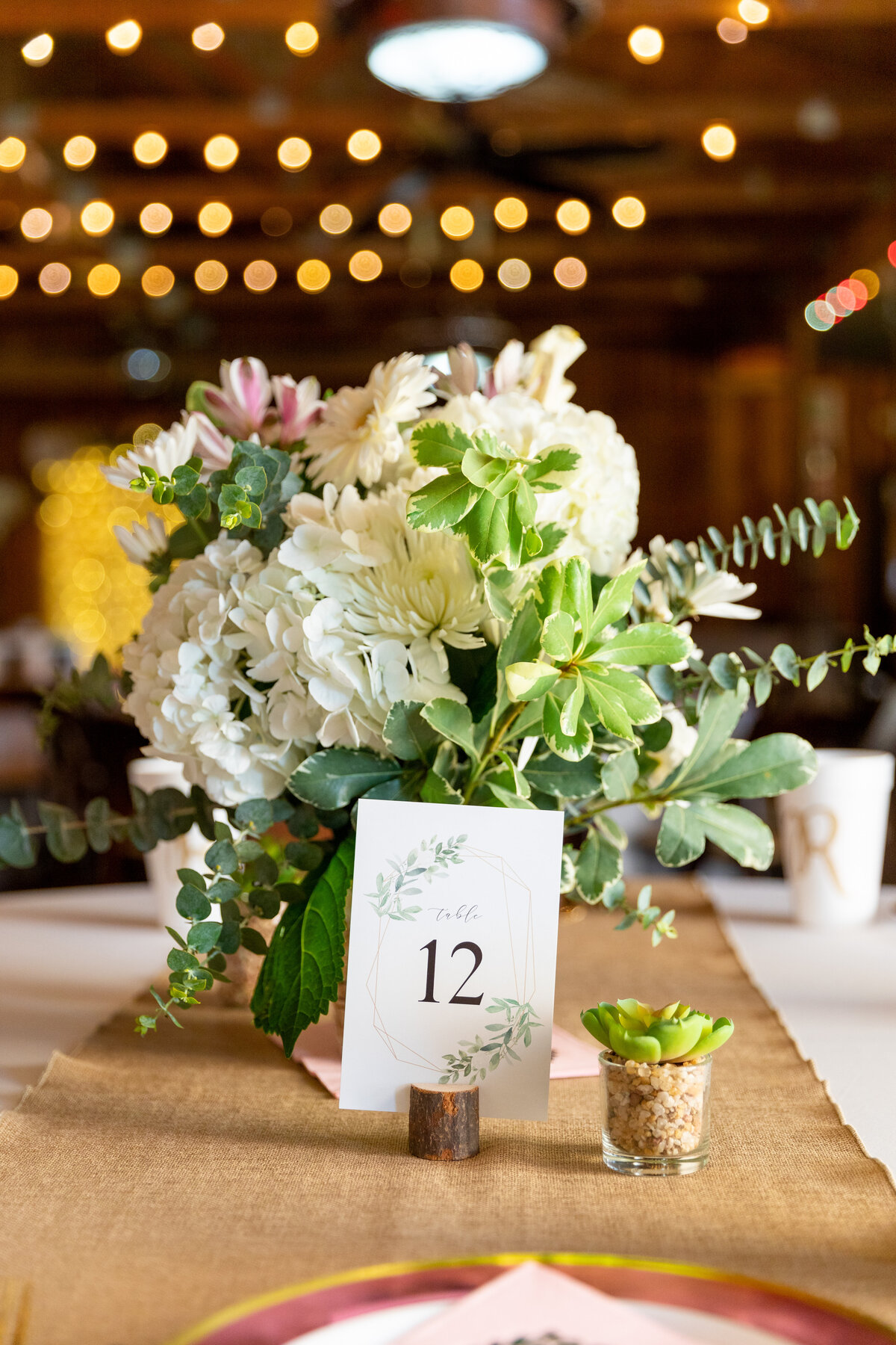 Rustic Country Wedding Table Decor