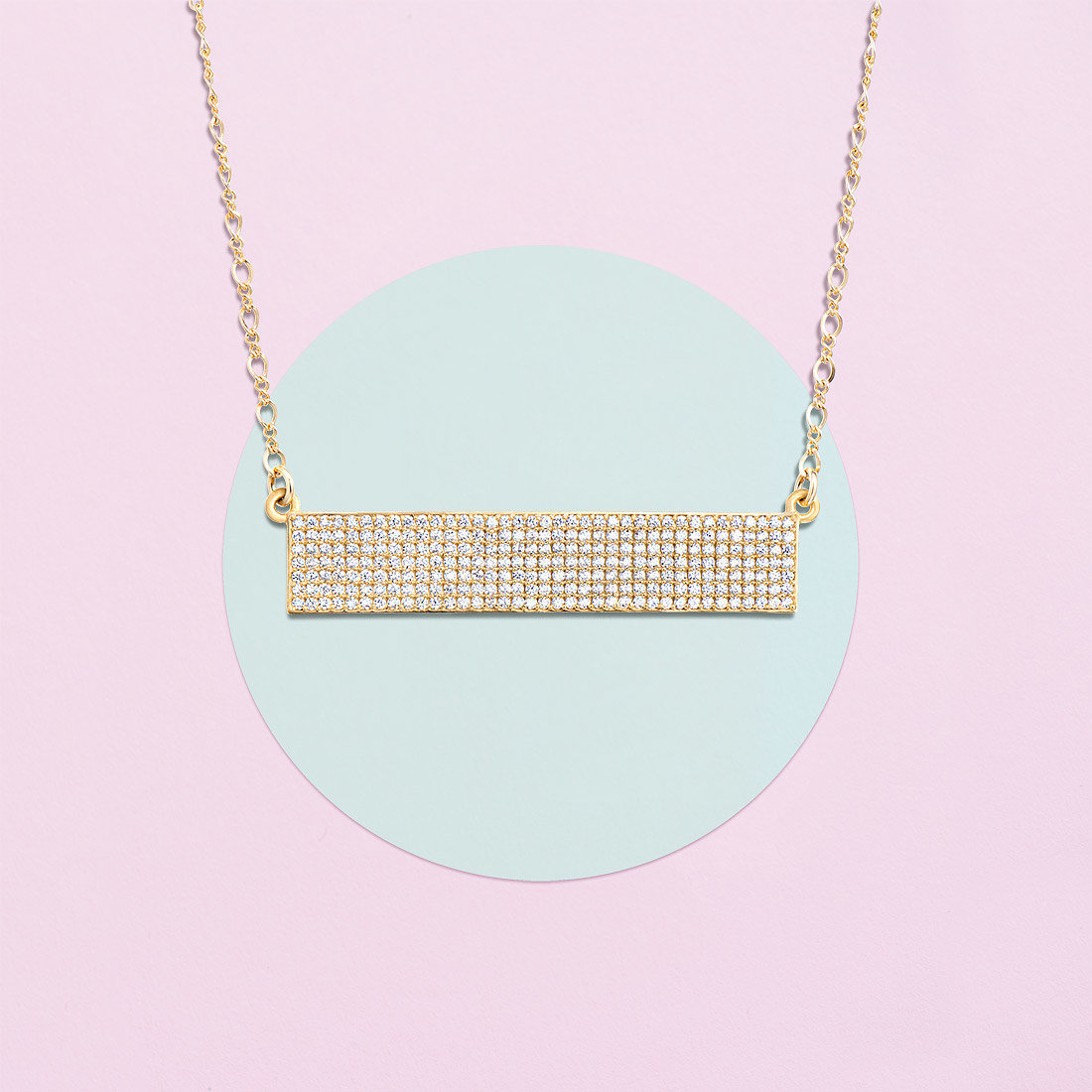 gold bar necklace crystal lolo jewellery