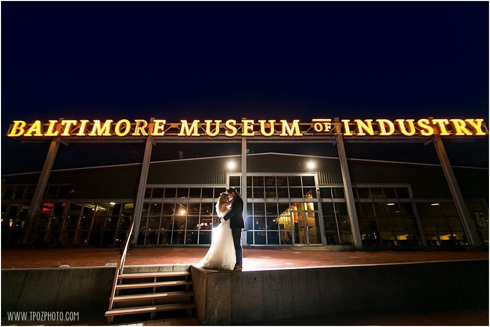 Baltimore Museum of Industry Wedding Night photo