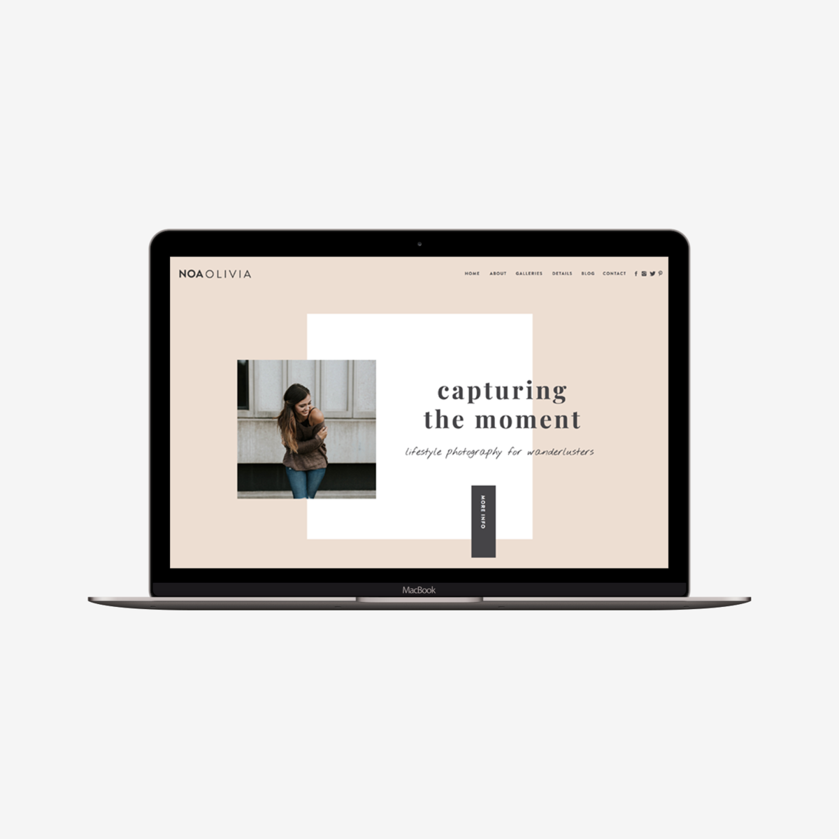 The Roar Showit Web Design Template Noa Olivia Macbook Image