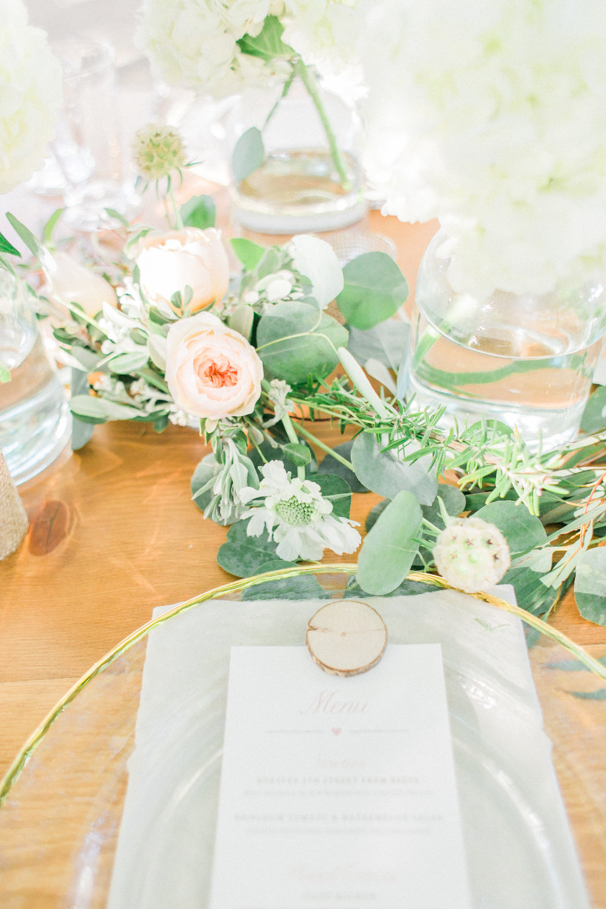 Blush Peach Wedding Reception Details