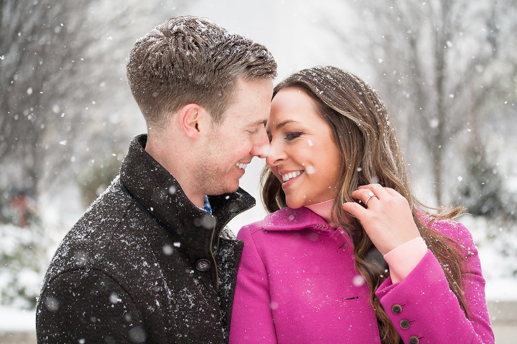 Millennium Park Chicago Illinois Winter Engagement Photographer Taylor Ingles 23