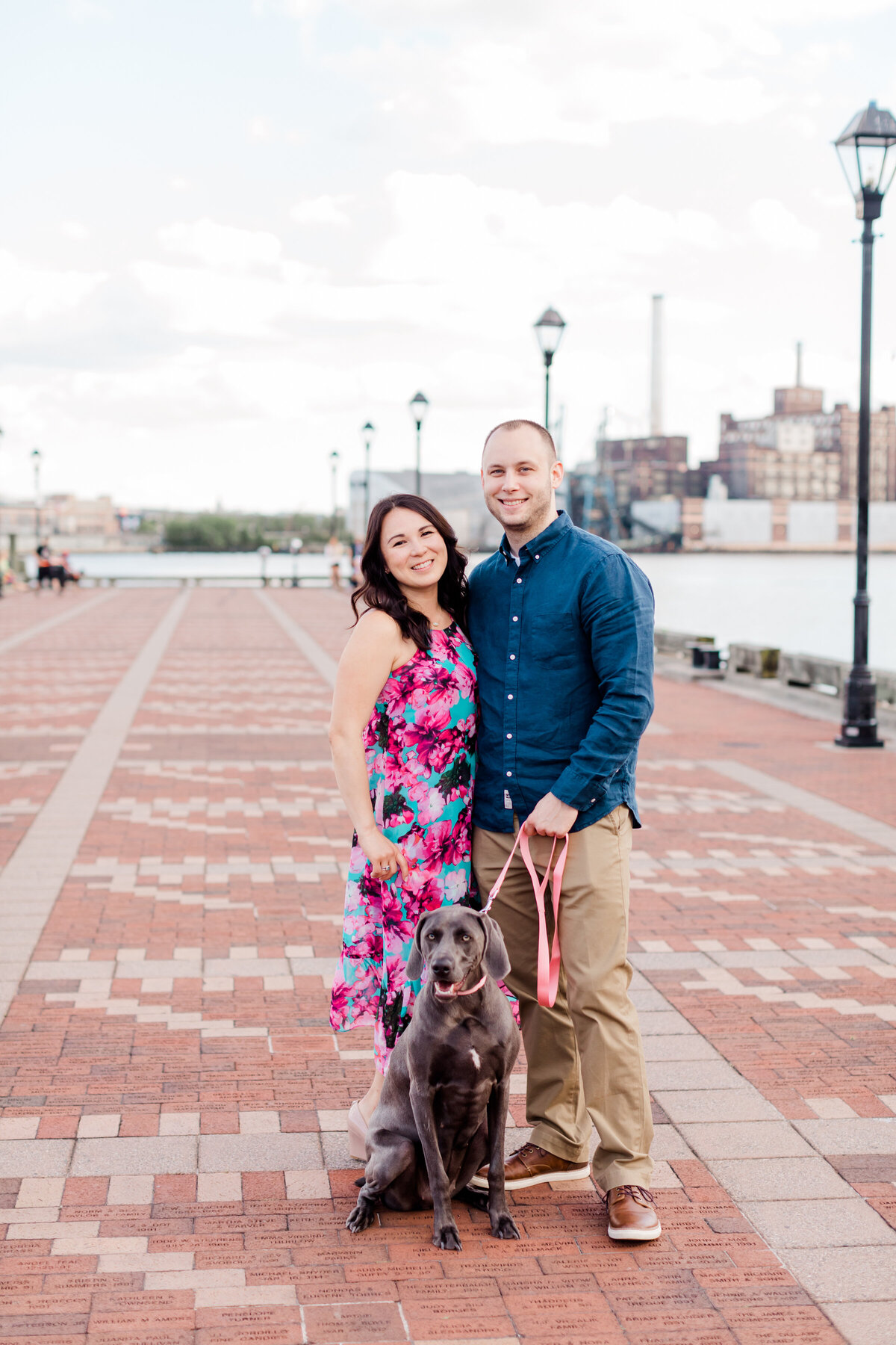 Engagement session in fells point