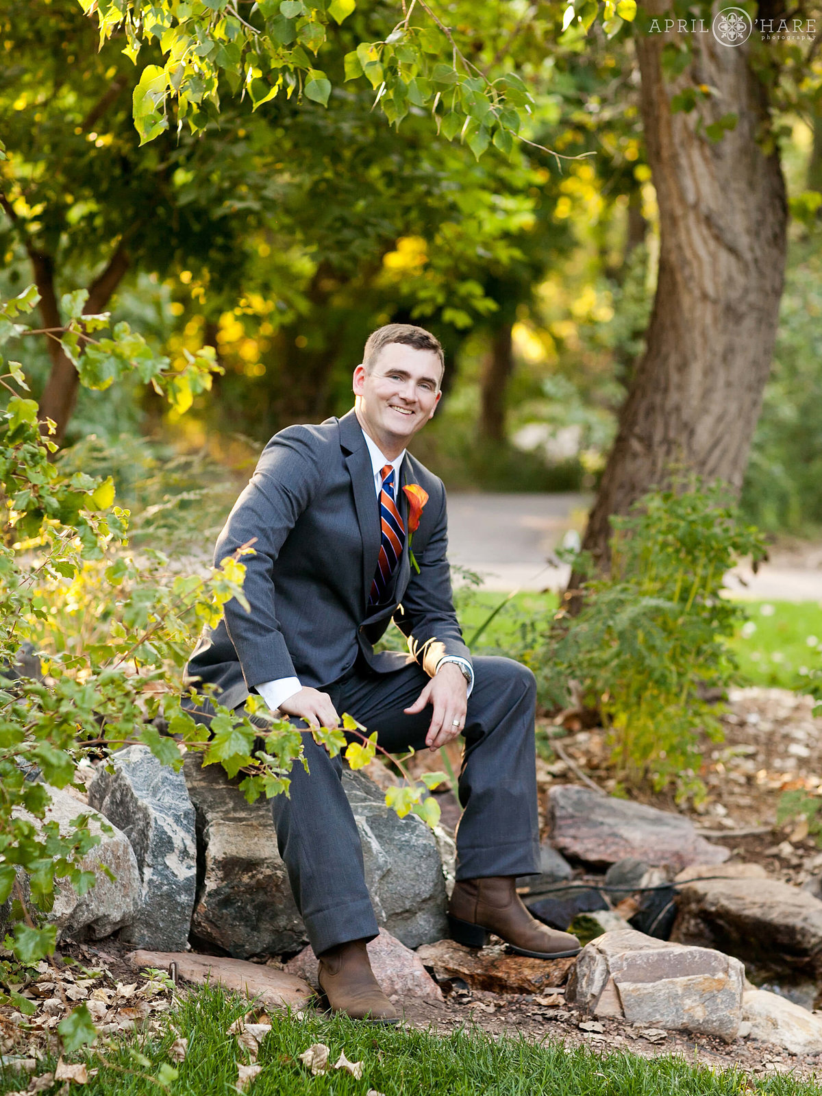 Groom Portrait Denver Wedding Photographer Chatfield Farms