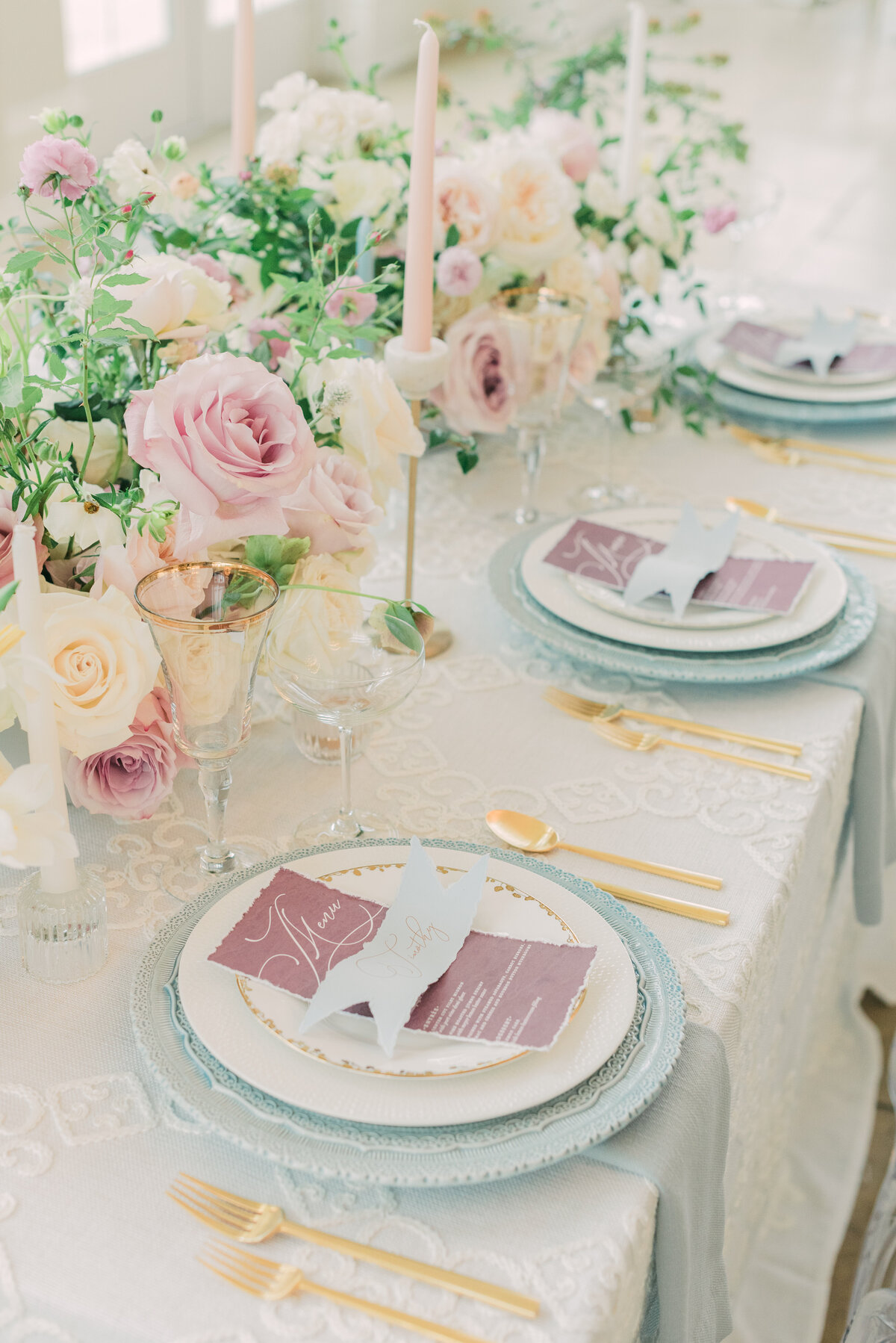 The Olana Nimbus Events Pastel Head Table Pink Blue Ivory
