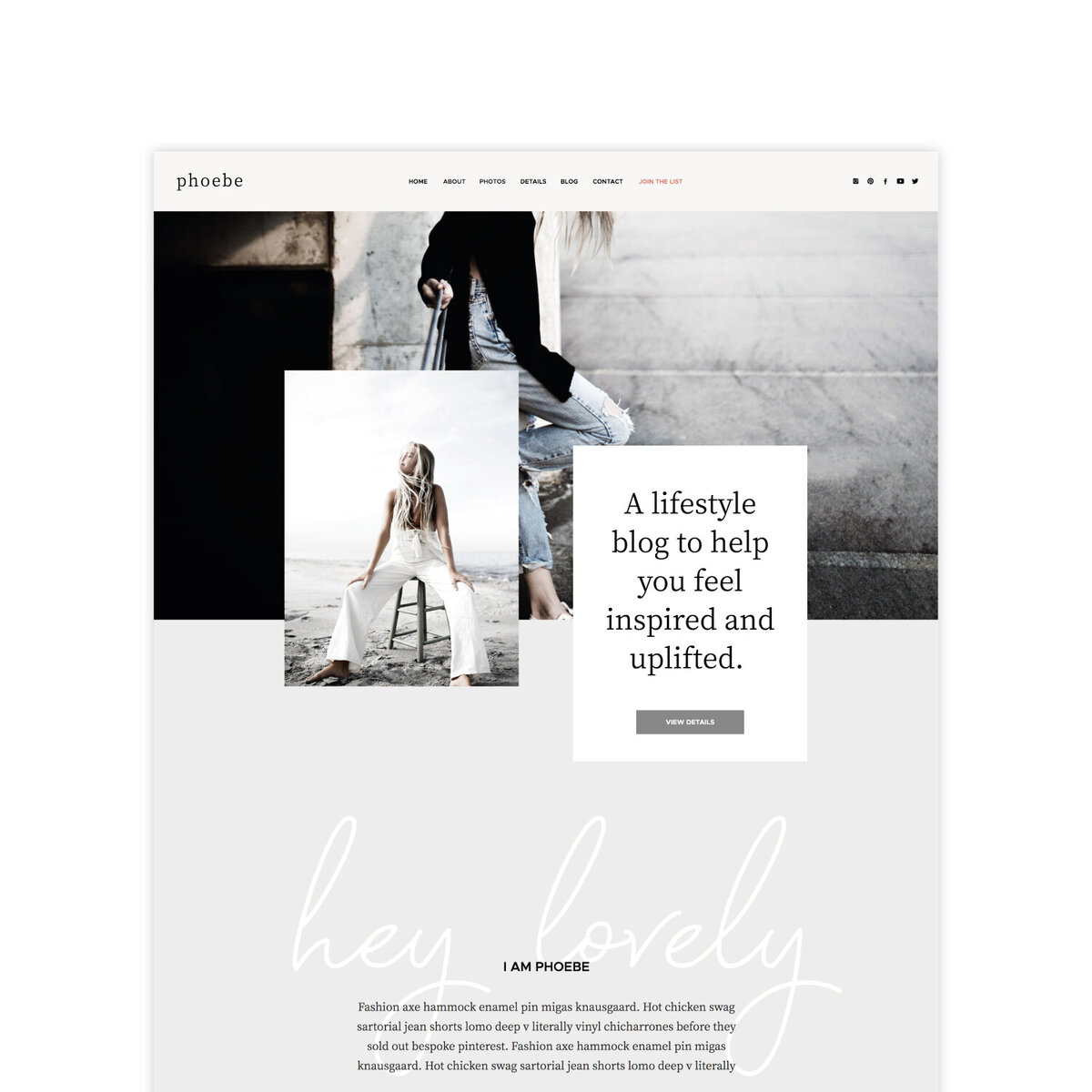 The Roar Showit Web Design Blog Interview Antina Interior Design Website Template Phoebe