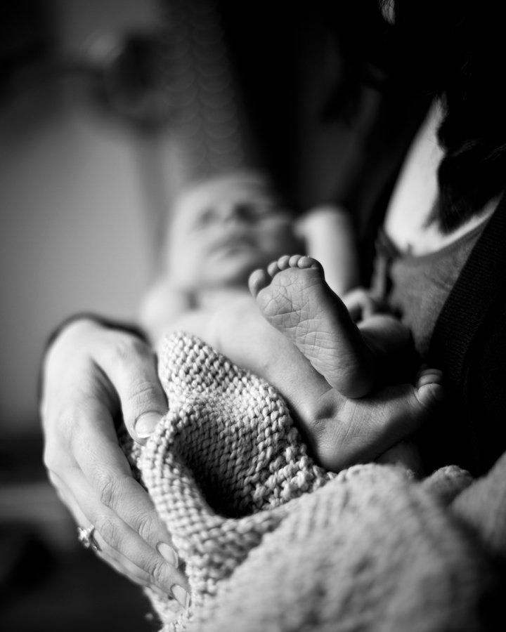 Black and White Newborn Photography, Washington DC
